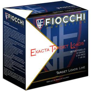 """Fiocchi Exacta Steel Target Line 12 Gauge Ammunition 25 Rounds 2-3/4"""" #7 Shot 1-1/8oz Steel 1375fps"""