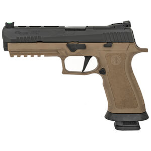 "SIG Sauer P320 XFive 9mm Luger Semi Auto Pistol 5.5"" Barrel 21 Rounds Dawson Precision Sights Modular X-Grip Black Slide/Polymer Frame Coyote Tan Finish"