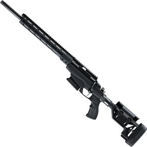 """Tikka T3X TAC A1 6.5 Creedmoor Left Handed Bolt Action Rifle 24"""" Threaded Barrel 10 Rounds Adjustable Chassis Stock M-LOK Forend Black"""