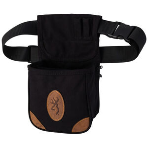 Browning Lona Canvas/Leather Shell Pouch Black
