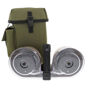 Iver Johnson AR-15 Drum Magazine .223 Remington 100 Rounds Polymer Black and Green