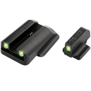 TRUGLO Brite-Site Ruger LC9 LC380 Sight Set, Tritium Green Front/Rear, Steel Black TG231R2
