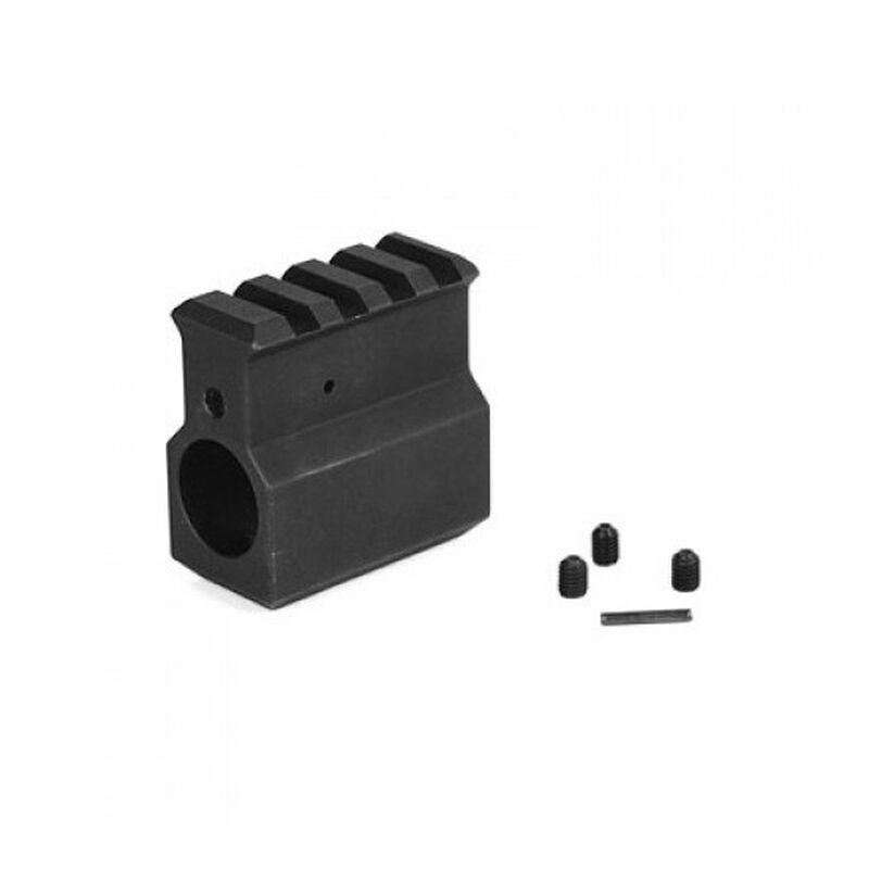 "LBE Unlimited AR-15 Railed Gas Block .750"" Upper Receiver Height Aluminum Black ARGBH-UH"