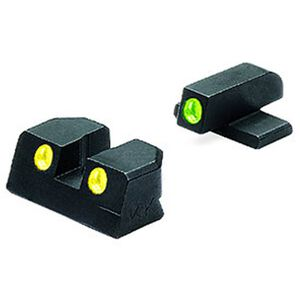 Meprolight Tru-Dot Fixed Night Sights GLOCK 19/23/32/38 Green/Yellow Steel 10224Y