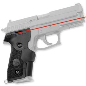 Crimson Trace MIL-STD Lasergrip for SIG Sauer P228, P229, Rubber, Red Laser