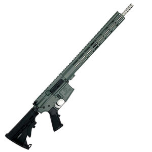 """GLFA .223 Wylde Rifle .223 Wylde Semi-Auto Rifle 16"""" Stainless Steel Barrel 30 Rounds Flat Top Optics Ready Synthetic Black Stock Charcoal Green Finish"""
