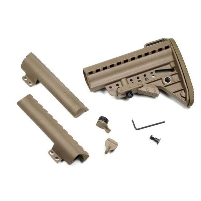 Vltor IMOD Improved Modstock Mil-Spec Standard Tan with Battery Storage and Butt Pad, AR-15