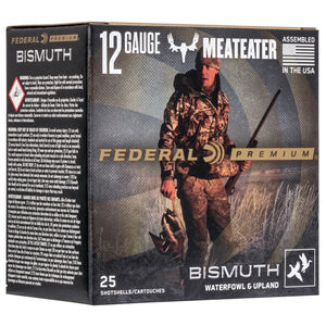 "Federal Premium MeatEater 12 Gauge Ammunition 2-3/4"" 1 1/4oz. #4 Bismuth Shot 1350 fps"