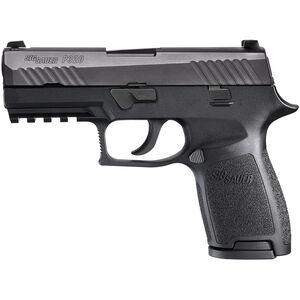 "SIG Sauer P320 Nitron Compact Semi Auto Pistol 9mm Luger 3.9"" Barrel 15 Rounds Contrast Sights SIG Rail Modular Polymer Frame/Grip Matte Black Finish"