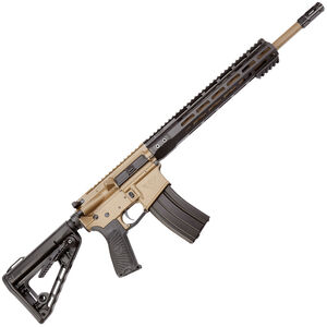 "Wilson Combat Protector Carbine .300 Blackout AR-15 Semi Auto Rifle 16.25"" Barrel 30 Rounds Free Float M-LOK Handguard Collapsible Stock Black/Tan Finish"