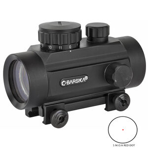Barska Red Dot 1x Magnification 30mm Tube 5 MOA Reticle Color Black