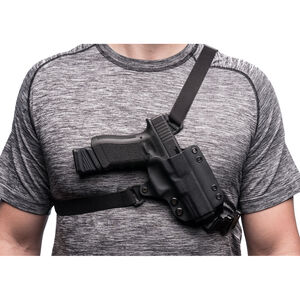 BlackPoint Outback Glock 20/21 Chest Holster Right Hand Polymer Black