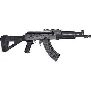 "Pioneer Arms Polish Hellpup 7.62x39mm AK-47 Semi Auto Pistol 11.73"" Barrel 30 Rounds with Optics Rail and Fixed SBM47 Pistol Brace Polymer Furniture Black Finish"