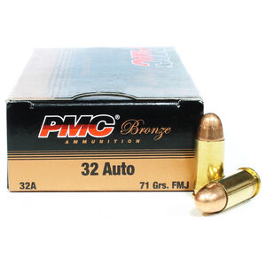 PMC Bronze .32 ACP 71 Grain FMJ 50 Round Box