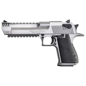 "Magnum Research Desert Eagle Mark XIX Semi Auto Pistol .50 Action Express 6"" Barrel 7 Rounds Fixed Combat Sights Weaver Accessory Rail/Picatinny Rail Natural SS Finish"