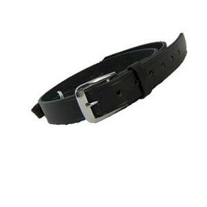 "Boston Leather Sam Browne Shoulder Strap with D-rings 1.25""  Regular Nickel Snaps Basket Weave Black 6511-3-N"