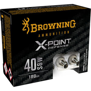 Browning X-Point Defense .40 S&W Ammunition 20 Rounds JHP 180 Grain
