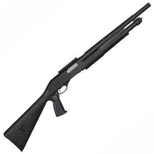 "Stevens 320 Security Pump Action Shotgun 12 Gauge 18.5"" Barrel 5 Rounds 3"" Chamber Pistol Grip Stock Heat Shield Scope Rail Black Finish 19496"