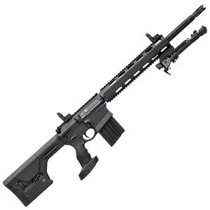 """DPMS Panther Arms GII SASS .308 Winchester AR Style Semi Auto Rifle 18"""" Barrel 20 Rounds Free Float Aluminum Quad Rail Magpul PRS Stock Panther Tactical Pistol Grip Matte Black"""