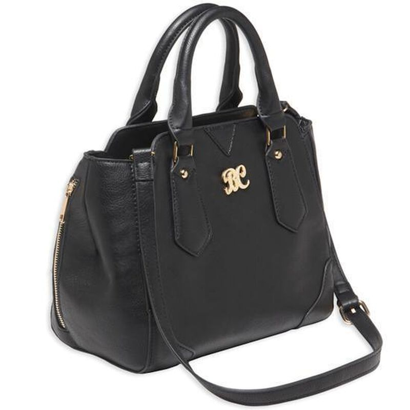 "Bulldog Cases Satchel Style Purse 16""x9.5""x5.5"" Leather Black with Black Trim BDP020"