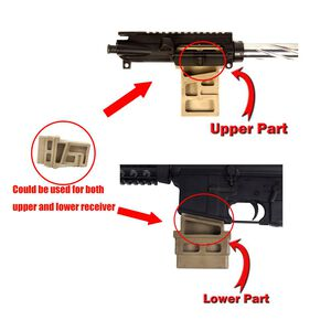 JE Machine DPMS Del-Ton Platform Upper & Lower Vise Block Tan