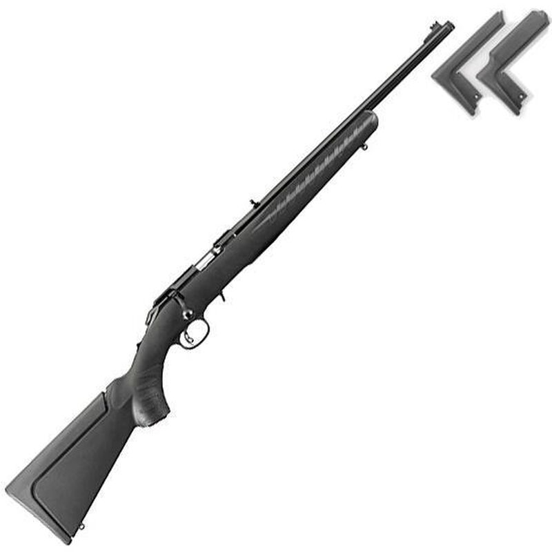 """Ruger American Rimfire Compact Bolt Action Rifle .22 Magnum 18"""" Threaded Barrel 9 Rounds Black Composite Stock Blued 8324"""
