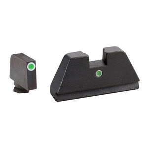 Ameriglo XL Tall Sight Set for GLOCK Green Tritium Front Dot with White Outline and Green Tritium Rear Single-Dot