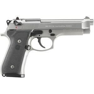 "Beretta 92FS Inox 9mm Luger Semi Auto Pistol 10 Rounds 4.9"" Barrel Black Synthetic Grips Stainless Steel"