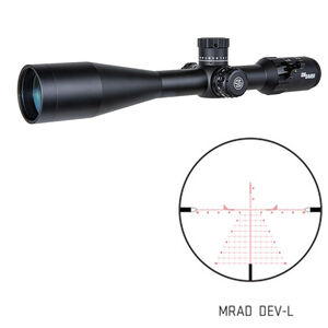 SIG Sauer Tango4 6-24x50 Riflescope Illuminated MRAD DEV-L Reticle 30mm Tube .1 MRAD Adjustments Side Parallax Adjustment First Focal Plane CR2032 Battery Black