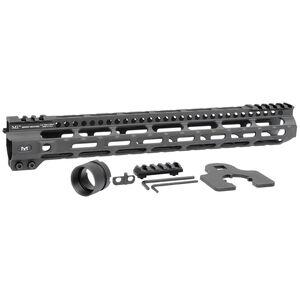 "Midwest Industries AR-15 Combat Lightweight 14"" One Piece Free Float M-LOK Hand Guard 6061 Aluminum Hard Coat Anodized Matte Black"