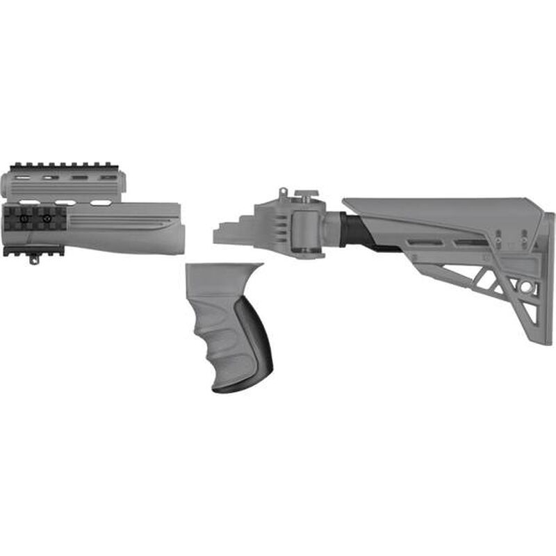 ATI Strikeforce AK-47 TactLite Stock And Forend Package w/ Scorpion Recoil System, Gray