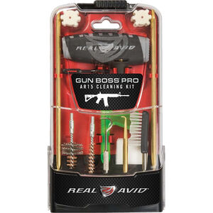 Real Avid Gun Boss Pro AR15 .223 Rem/5.56 NATO 18 Piece MSR Cleaning Kit Poly Carbonate Case