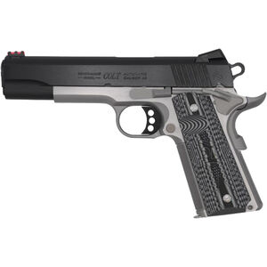 "Colt Competition Plus .45 ACP 1911 Semi Auto Pistol 5"" Match Barrel 8 Rounds Full Sized Government Profile G10 Grips Two Tone Stainless/Blued Finish"