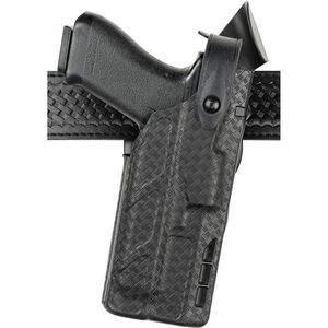 Safariland 7360 7TS ALS/SLS Mid-Ride Duty Holster Right Hand for GLOCK 17/22 with Light SafariSeven Basket Weave Black