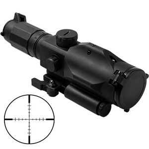 "NcSTAR Gen3 SRT 3-9x40mm Scope with Green Laser Illuminated P4 Sniper Reticle 1/2"" MOA Adjustment QR Mount Aluminum Black"