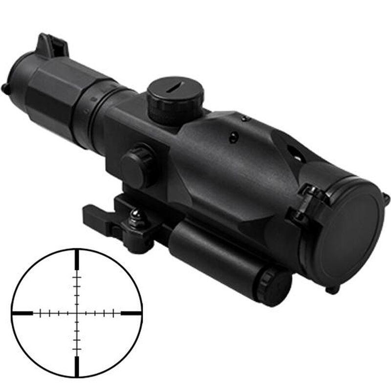 "NcSTAR Gen3 SRT 3-9x40mm Scope with Green Laser Illuminated P4 Sniper Reticle 1/2"" MOA Adjustment QR Mount Aluminum Black"