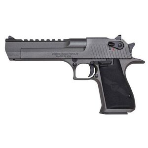 "Magnum Research Desert Eagle Mark XIX Semi Auto Pistol .44 Magnum 6"" Barrel 8 Rounds Full Weaver Accessory Rail Black Grips Tungsten Cerakote Finish Dark Graphite Grey Color"