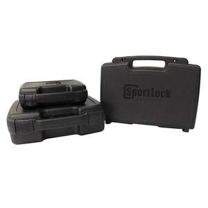 "Birchwood Casey SportLock 10 Inch Single Handgun Case Hard Sided 7"" x 10.5"" x 2"" Airline Approved Plastic Black"