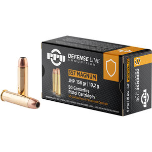 Prvi Partizan PPU Defense .357 Mag Ammunition 50 Rounds 158 Grain JHP 1607fps
