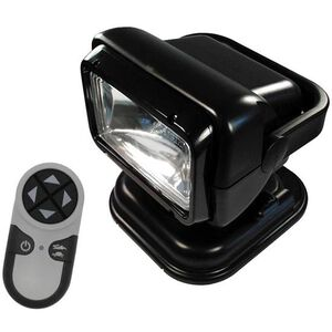 Golight Radioray Handheld LED Spotlight 200,000 Candela Power 12 Volt Battery with Wireless Remote Control Black 79514