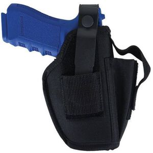 Allen Company Medium and Large Frame Semi Automatic Pistols Hip Holster with Magazine Pouch Ambidextrous Nylon Black 44506