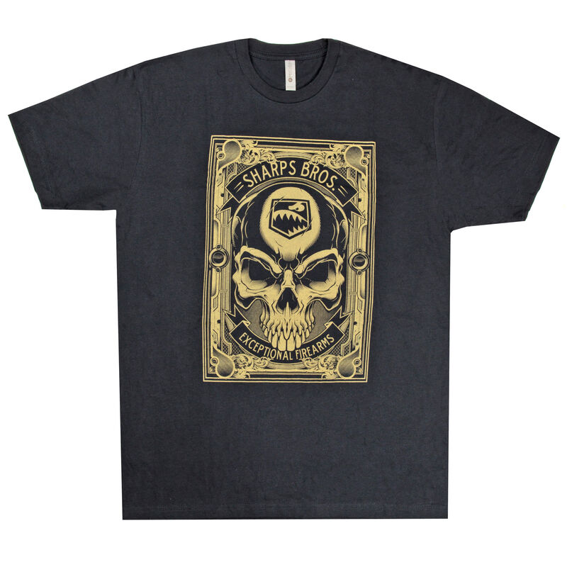 Sharps Bros Exceptional Firearms Men's Short Sleeve T-Shirt 50/50 Blend Black