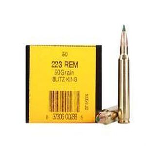 HSM .223 Remington Ammunition 50 Rounds Sierra BlitzKing 50 Grains HSM-223-51-N