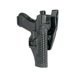 BLACKHAWK! SERPA Level 3 Belt Holster Left Hand S&W M&P 9/40 Basket Weave Finish Black 44H125BW-L