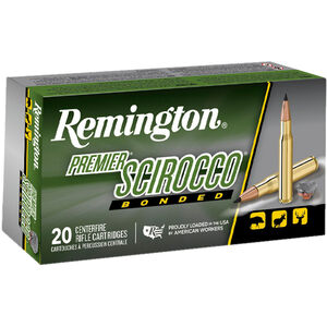 Remington Premier Scirocco Bonded .300 Win Mag Ammunition 20 Rounds 180 Grain Scirocco Bonded Polymer Tipped BT 3501fps