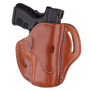 1791 Gunleather Open Top Multi-Fit 2.4s OWB Belt Holster for FN 509/SIG P229/P228 Semi Auto Models Right Hand Draw Leather Classic Brown