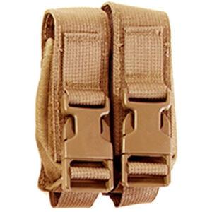 HSGI Modular Pistol Double Mag Pouch MOLLE Nylon Coyote