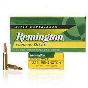 Ammo .222 Remington CoreLokt 50 Grain PSP Bullet 3140 fps 20 Rounds R222R1