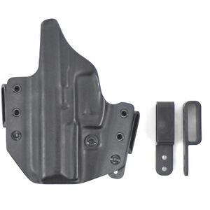 L.A.G. Tactical Defender Series OWB/IWB Holster Smith & Wesson Shield .45 ACP Right Hand Kydex Black
