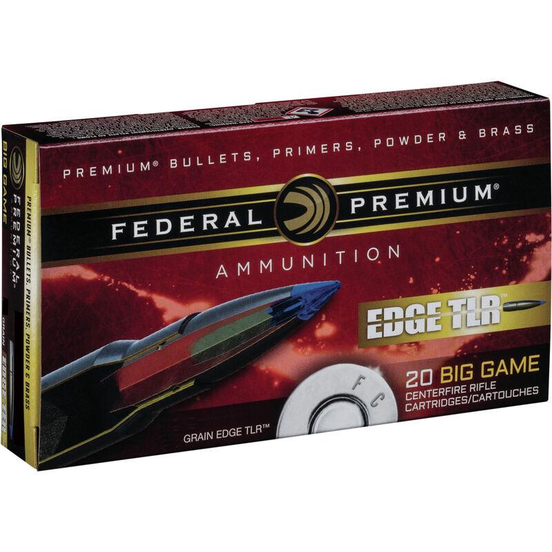 Federal Edge TLR 7mm Rem Mag Ammunition 20 Rounds 155 Grain Edge TLR Bonded Projectile 3000fps